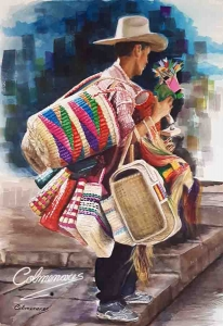 Vendedor de cestos (Basket Seller)
